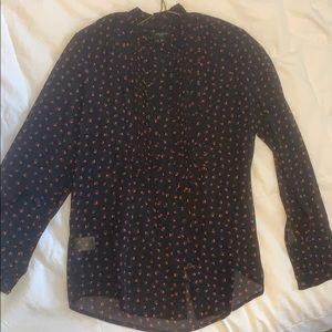 Long sleeve blouse. Petite